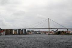 A ponte na balsa da tau, Noruega da reunião de Stavanger imagem de stock royalty free