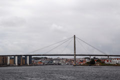 A ponte na balsa da tau, Noruega da reunião de Stavanger imagens de stock
