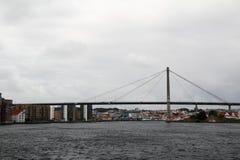 A ponte na balsa da tau, Noruega da reunião de Stavanger fotografia de stock