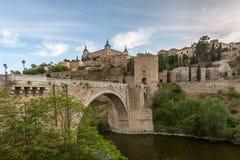 Ponte na cidade medieval de Toledo Fotografia de Stock