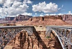 Ponte na garganta de mármore, o Arizona da garganta (Navajo), EUA Imagens de Stock Royalty Free