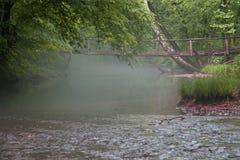 Ponte na névoa da manhã fotos de stock royalty free