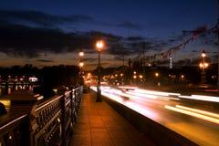 Ponte na noite Imagem de Stock Royalty Free