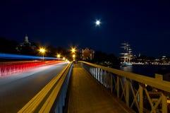 Ponte na noite. Foto de Stock Royalty Free