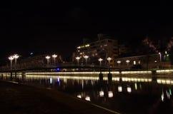 Ponte na noite Imagem de Stock