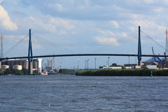 Ponte na porta de Hamburgo Fotografia de Stock Royalty Free