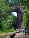 Ponte natural de Virgínia nos EUA, 2008 fotografia de stock