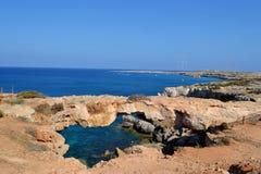 Ponte naturale nel Cipro Fotografie Stock Libere da Diritti