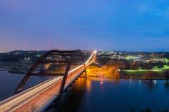 A ponte negligencia no por do sol Fotos de Stock