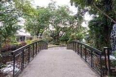 Ponte nel giardino Fotografia Stock