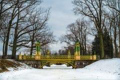 Ponte nel villaggio della Cina, Tsarskoe Selo, Pushkin, san Petersbur immagine stock libera da diritti