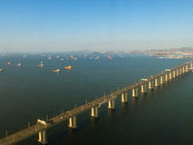 Ponte nella baia di Rio de Janeiro Fotografia Stock