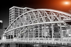 Amburgo ed i suoi ponti Immagini Stock Libere da Diritti