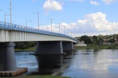 Ponte nella città di Kaunas fotografia stock libera da diritti