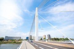 Ponte nella città di Nantes immagini stock