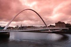 Ponte Newcastle do milênio Fotos de Stock Royalty Free