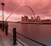 Ponte Newcastle do milênio Fotografia de Stock