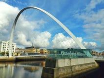 Ponte Newcastle e Gateshead do milênio fotos de stock royalty free