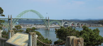 Ponte a Newport Oregon Fotografie Stock