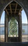 Ponte Newport Oregon della baia di Yaquina Immagine Stock Libera da Diritti