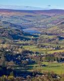 Ponte Nidderdale Yorkshire de Pateley do reservatório de Gouthwaite Imagem de Stock