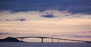 Ponte no crepúsculo Foto de Stock Royalty Free