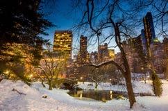 Ponte no inverno, Central Park de Gapstow Foto de Stock Royalty Free