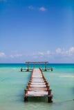 Ponte no mar Imagem de Stock Royalty Free
