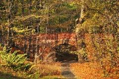 Ponte no parque do coelho (parque de Krolikarnia) em Varsóvia poland Foto de Stock Royalty Free