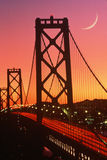 Ponte no por do sol, San Francisco do louro, CA Imagem de Stock Royalty Free