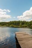 Ponte no rio Fotografia de Stock