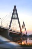 Ponte no rio de Danúbio 1 Fotos de Stock Royalty Free