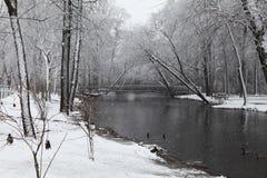 Ponte no rio de Mispillion em Dôvar imagem de stock royalty free