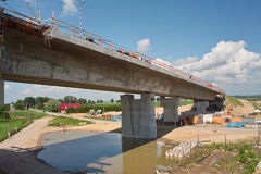 Ponte no rio de Vistula Foto de Stock Royalty Free
