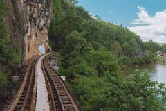 Ponte no rio Kwai Fotografia de Stock Royalty Free