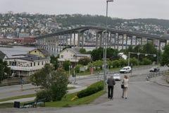 A ponte no tromsø noruega Foto de Stock