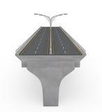 Ponte nova da estrada sob a construção Imagens de Stock Royalty Free