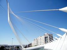 Ponte nova 2010 das cordas do Jerusalém fotos de stock royalty free