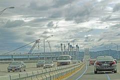 Ponte nova de construção de Tappan Zee Fotos de Stock Royalty Free