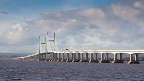 Ponte nova de Severn, Reino Unido Imagens de Stock