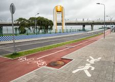 Ponte nova do iate, St Petersburg Rússia Imagens de Stock Royalty Free