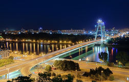 Ponte nova em Bratislava, Eslováquia. Imagens de Stock