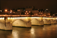 Ponte nuef - new bridge in paris Royalty Free Stock Images