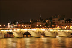 Ponte nuev - Paris in night - new bridge Royalty Free Stock Images