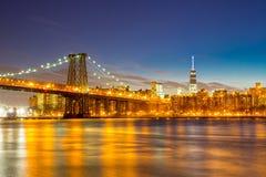 Ponte NYC di Williamsburg Fotografia Stock