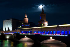 Ponte Oberbaumbrücke. fotografia de stock royalty free