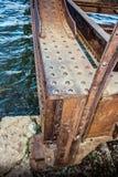 Ponte oxidada velha com rebites Foto de Stock Royalty Free