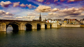 Ponte Países Baixos de Maastricht foto de stock