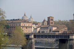 Ponte Palatino. Is a bridge in Rome linking Trastevere to the ancient city. Photo taken April 2015 Stock Photos