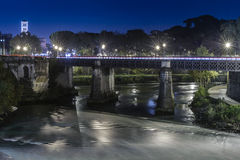 Ponte Palatino in Rome royalty free stock photography